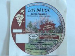 Los Patios. Queso Palmero, queso de cabra de la isla de La Palma. Canarias