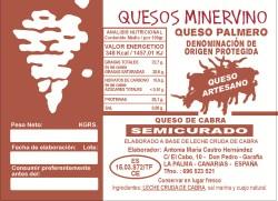 Quesos Minervo, queso palmero. Queso de cabra de la isla de La Palma, canarias