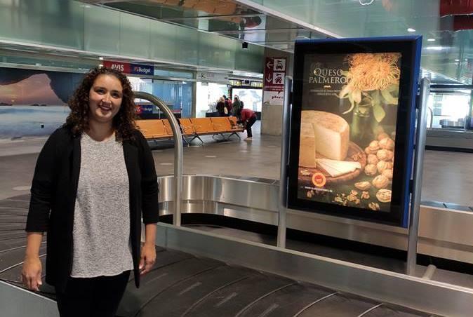 Promocionan el Queso Palmero en el Aeropuerto de La Palma